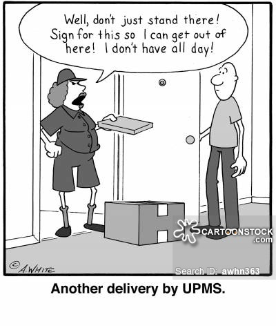Another delivery by UPMS.