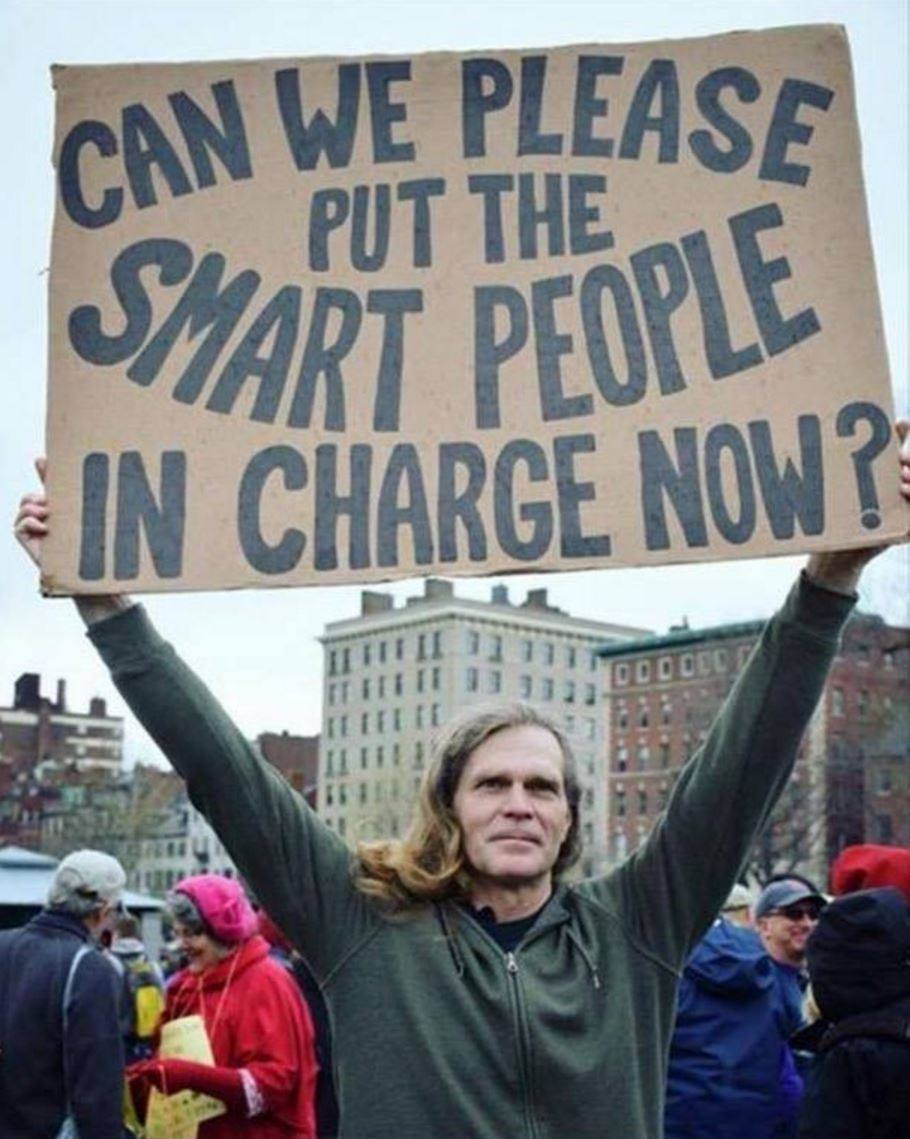 put-smart-people-in-charge-sign