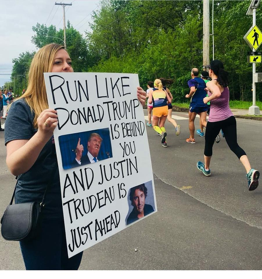 run-like-trump-trudeau-sign